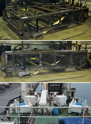 Design and fabrication of Dredges for Canadian deep water fishing Clam company